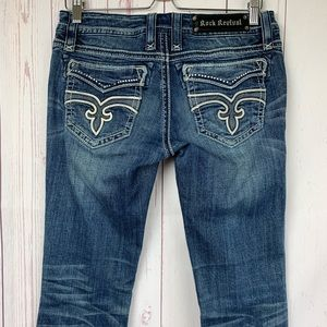 Rock Revival Liberty Bootcut Low Rise Jeans SZ 29
